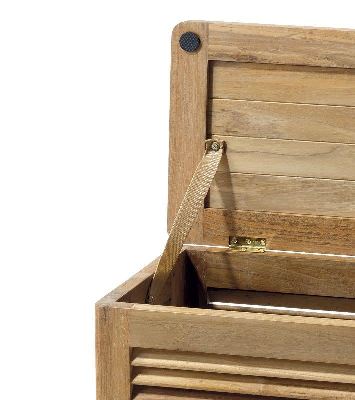 Classic Vasketøjskurv Stor - Teak - Teaktræs vasketøjskurv