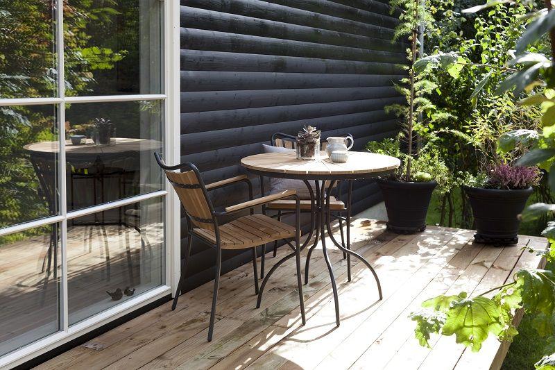 Hard & Ellen Cafébord Ø80 - Antracit/teak