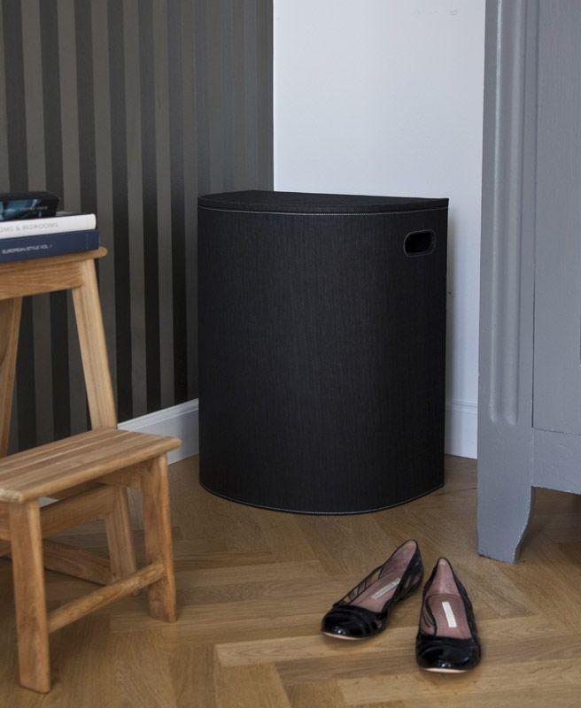 Cinas Laundry  Vasketøjskurv - Sort - Genbrugspapir