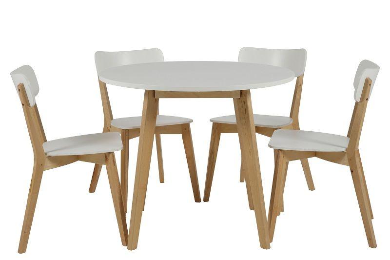 Clara Spisebordsstol i træ - Natur/hvid - Spisebordsstole i hvid/natur