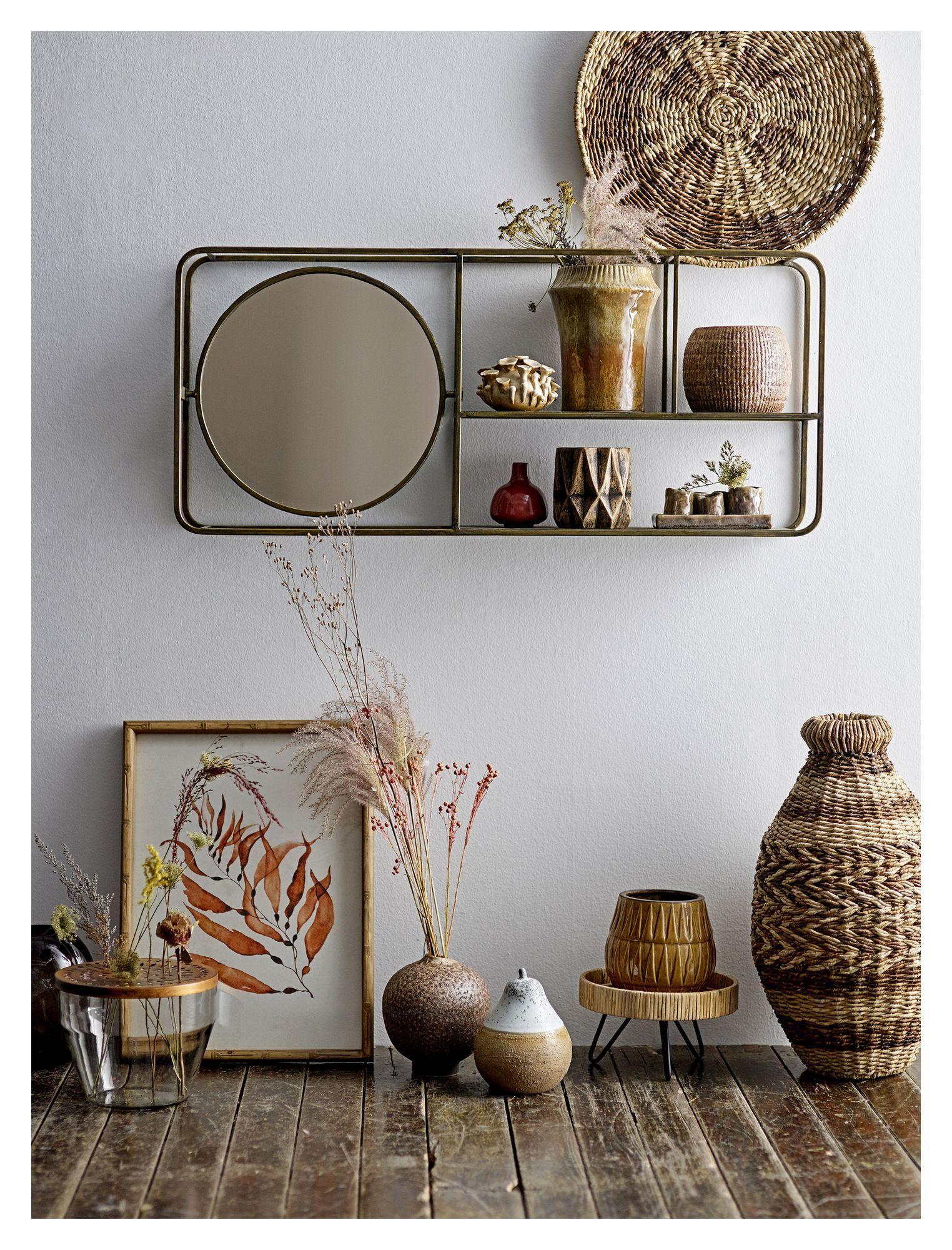Bloomingville Creative Spejl m/Hylde - Guld