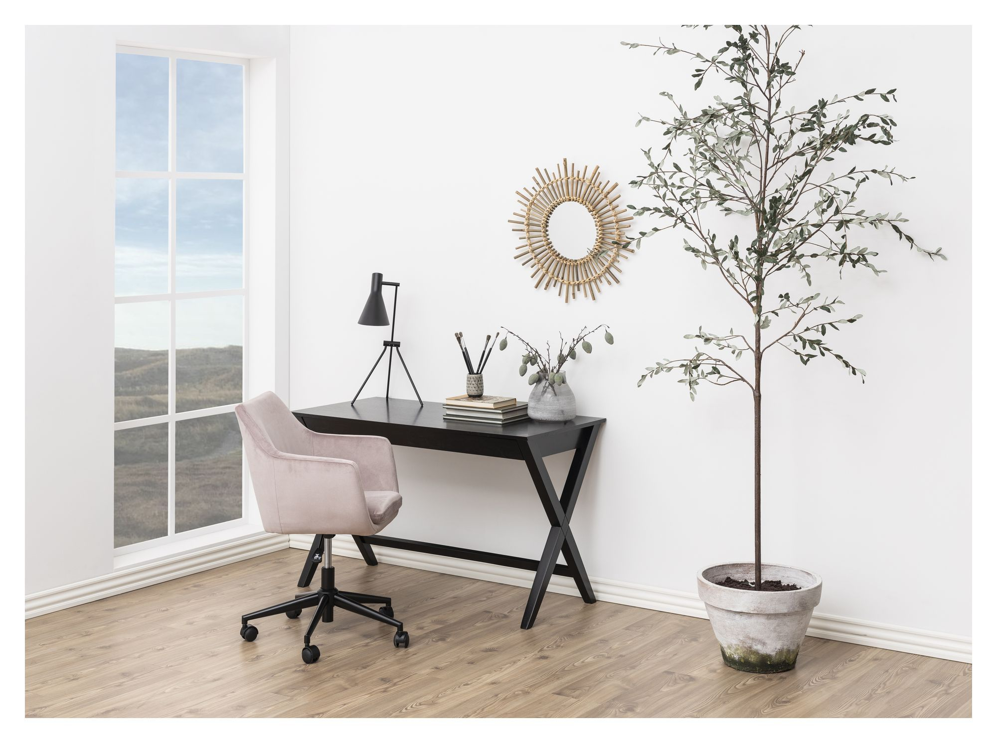 Cross Skrivebord - Sort - Sort skrivebord i træ