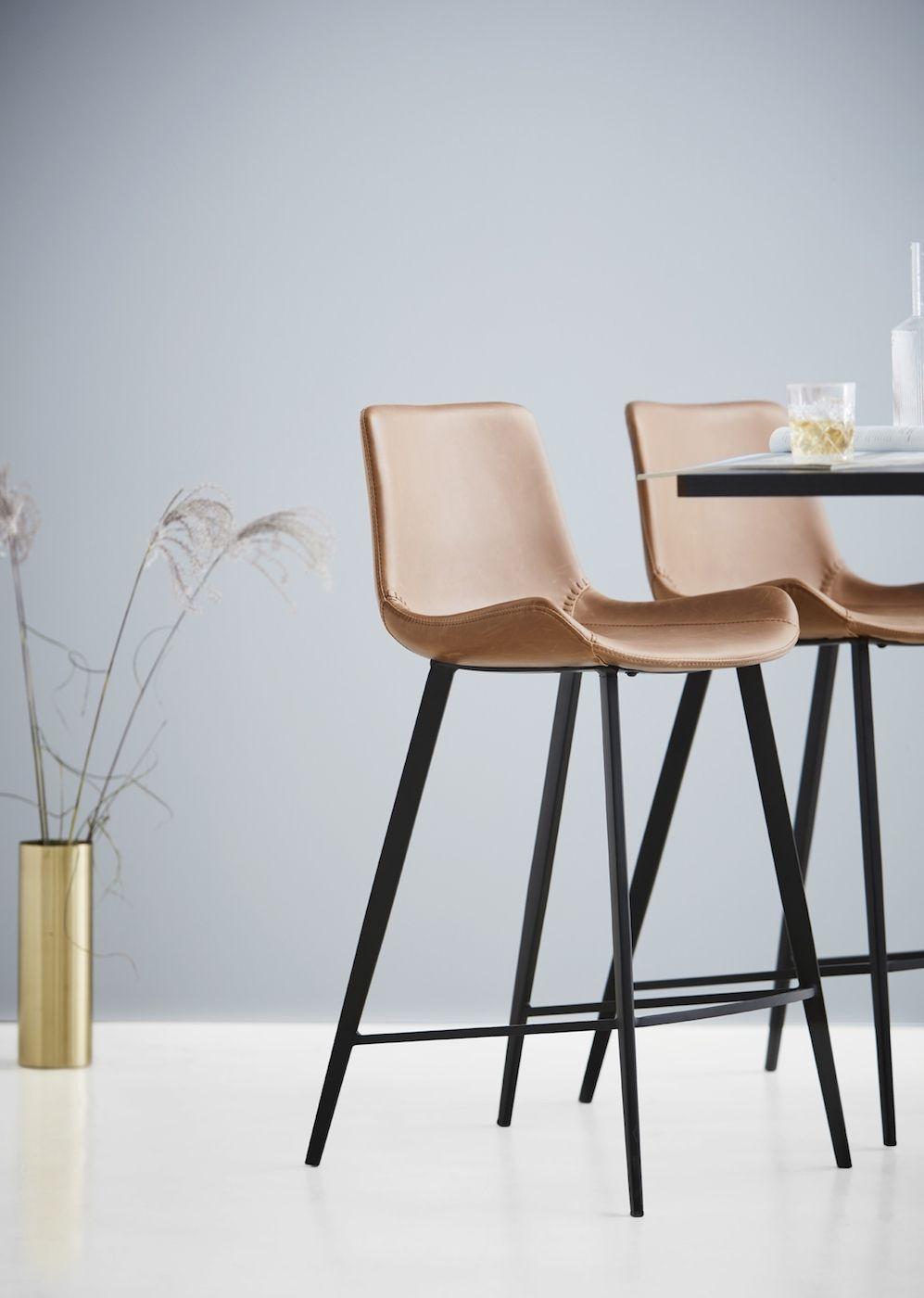 Danform - Hype Barstol - Brun kunstlæder - Barstol i brun