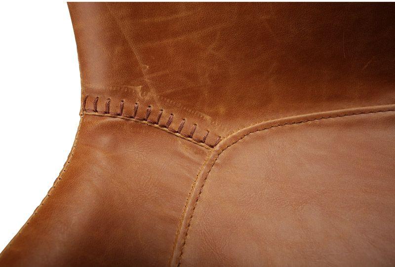 Danform - Hype Spisebordsstol - Brun - Spisebordsstol med lys brun læderlook