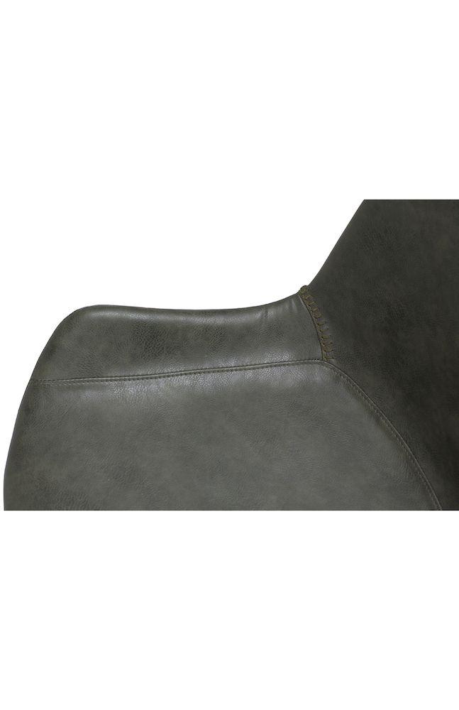 Danform - Hype Spisebordsstol - Grøn PU - Spisebordsstol i vintage grøn