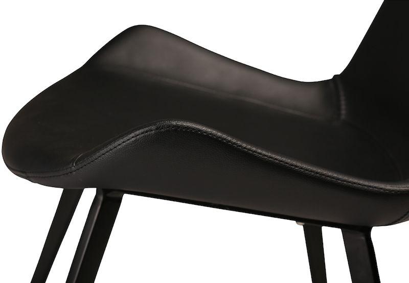 Danform - Hype Spisebordsstol - Sort PU - Spisebordsstol med sort læderlook