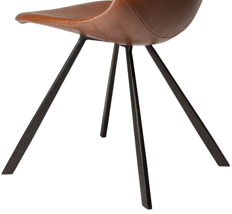 Danform - Pitch Spisebordsstol - Brun PU/sort - Lys brun Spisebordsstol med læderlook