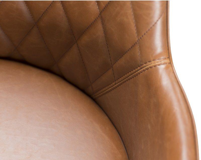 Danform - Rombo Spisebordsstol - Brun/sort - Lys brun kunstlæder