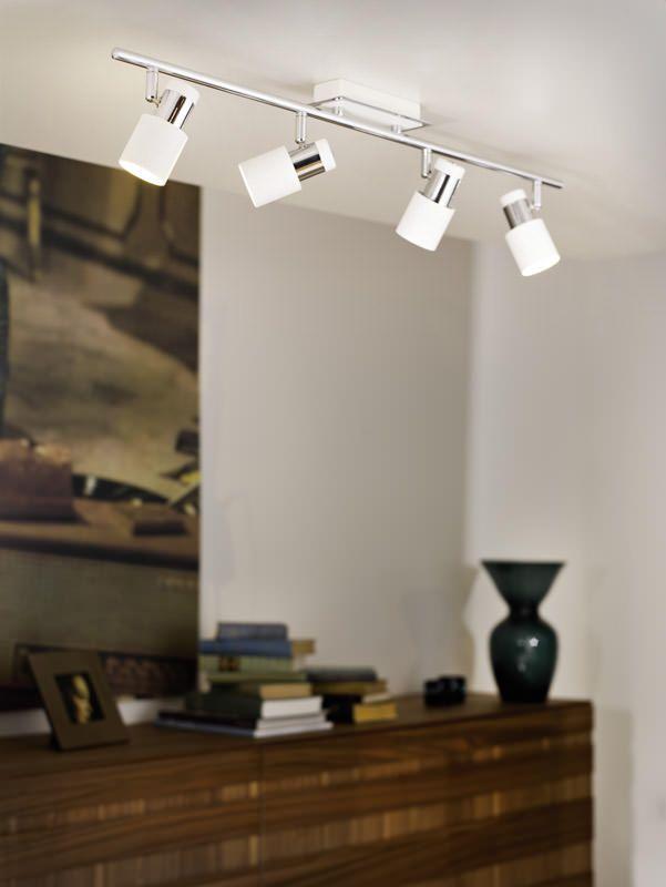 Davida LED 4 Spot - Metal/hvid - Smarte spots i krom og hvid
