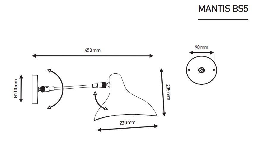 DCWeditions Mantis Væglampe - Sort