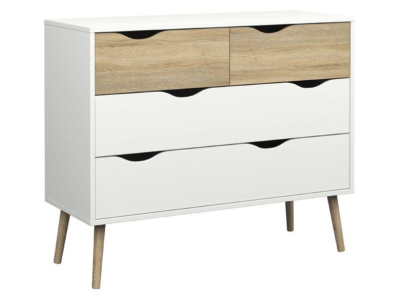 delta kommode hvid b 98 60 gratis fragt. Black Bedroom Furniture Sets. Home Design Ideas