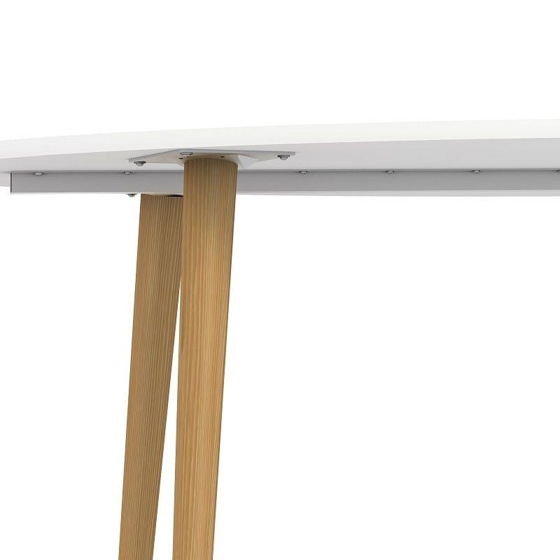 Delta Spisebord - Hvid - 180 cm - Ben i eg