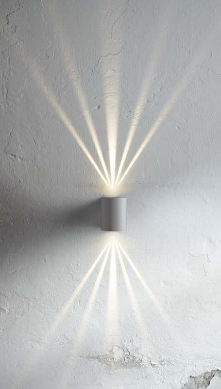Nordlux DFTP Canto Væglampe - Grå - Grå væglampe i metal