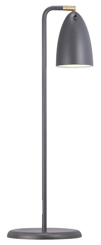 Nordlux DFTP Nexus 10 Bordlampe - Grå - Grå bordlampe i metal