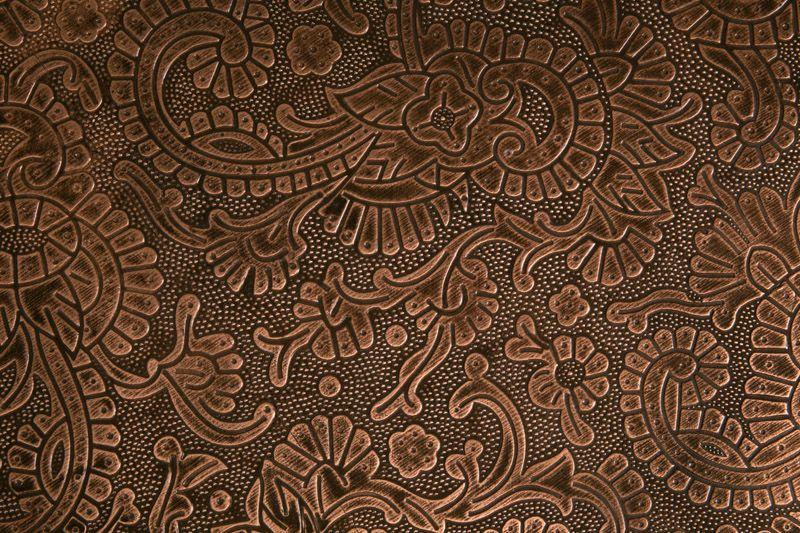Dutchbone - Bast Sidebord - Sheesham træ m/kobber - Kobberfarvet sidebord