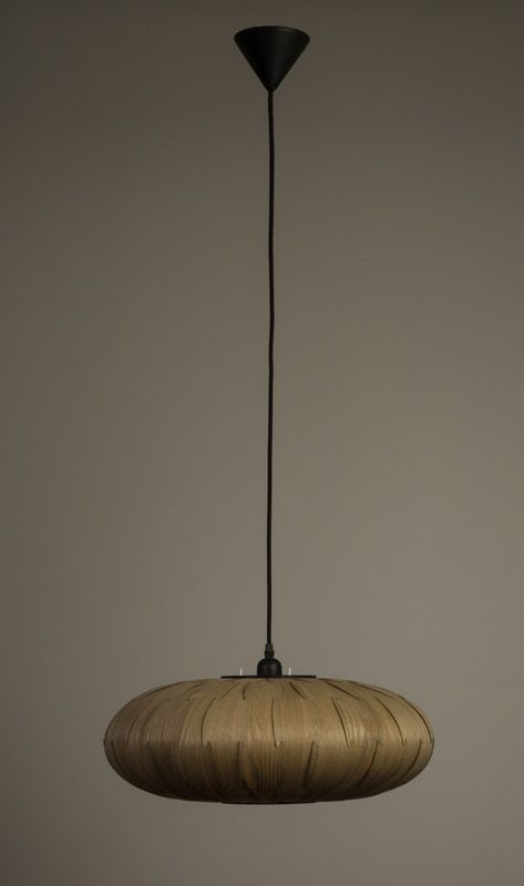 Dutchbone Bond Pendel - Oval - Skærm af Aske finér