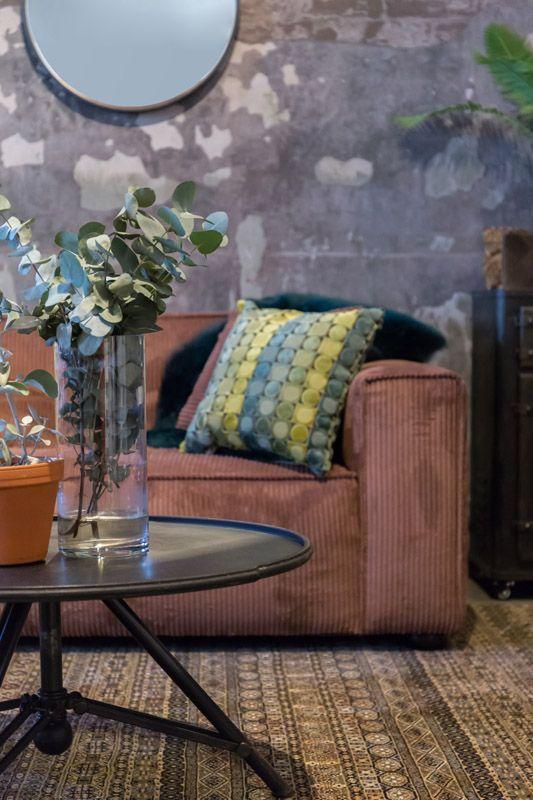 Dutchbone - Brok Sofabord - Sort jern - Vintage sofabord i jern