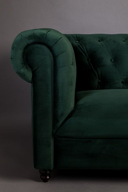 Dutchbone - Chester 2-pers. Sofa - Mørk Grøn