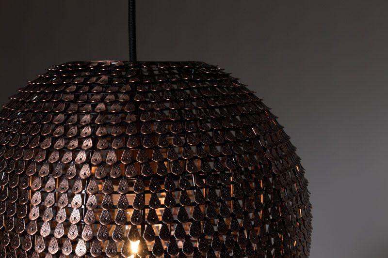 Dutchbone Cooper Pendel - Rund - Kobberfarvet metal - håndlavet