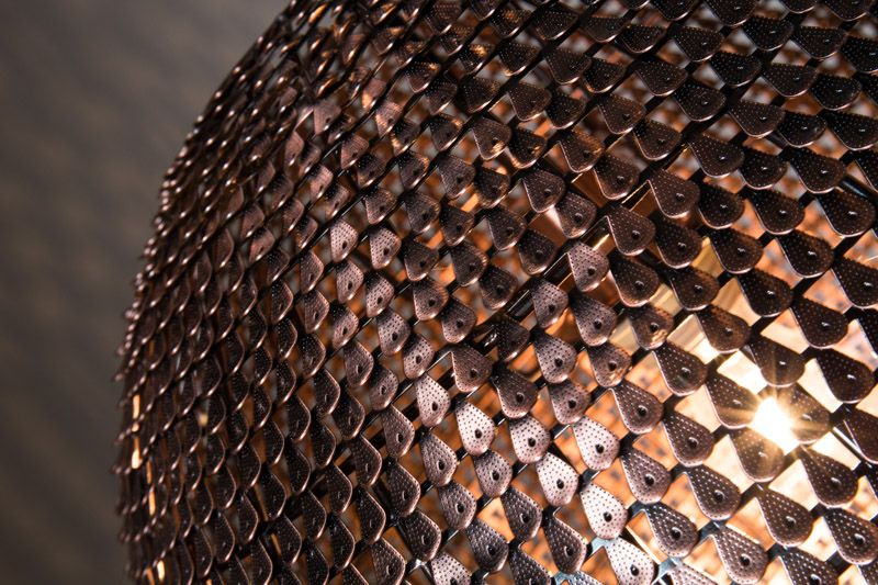 Dutchbone - Cooper Pendel Rund - Kobber - Ø40 - Håndlavet jern