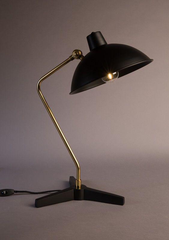 Dutchbone - Devi Bordlampe - Sort - Sort bordlampe