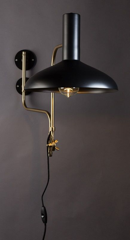 Dutchbone - Devi Væglampe - Sort - Sort vegglampe
