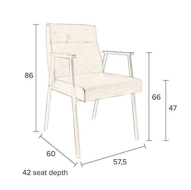 Dutchbone - Fez Spisebordsstol - Brun - Spisebordstol med skinnimitasjon