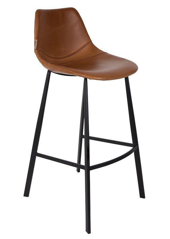 Dutchbone - Franky Barstol - Brun PU læder - Brun barstol