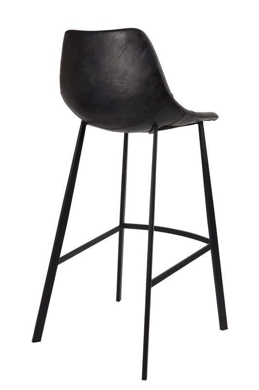 Dutchbone - Franky Barstol - Sort PU læder - Svart barstol