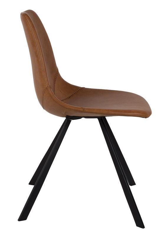 Dutchbone - Franky Spisebordsstol - Brun - Brun spisebordstol
