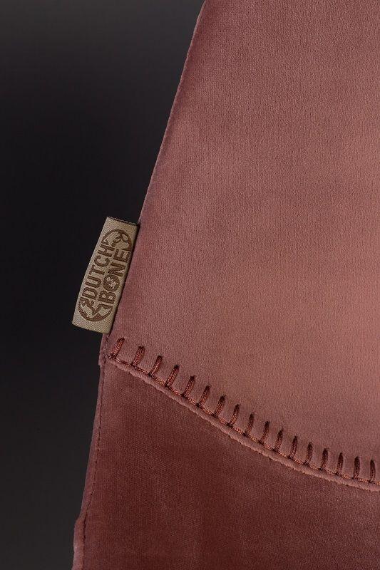 Dutchbone Franky Spisebordsstol - Old pink velour