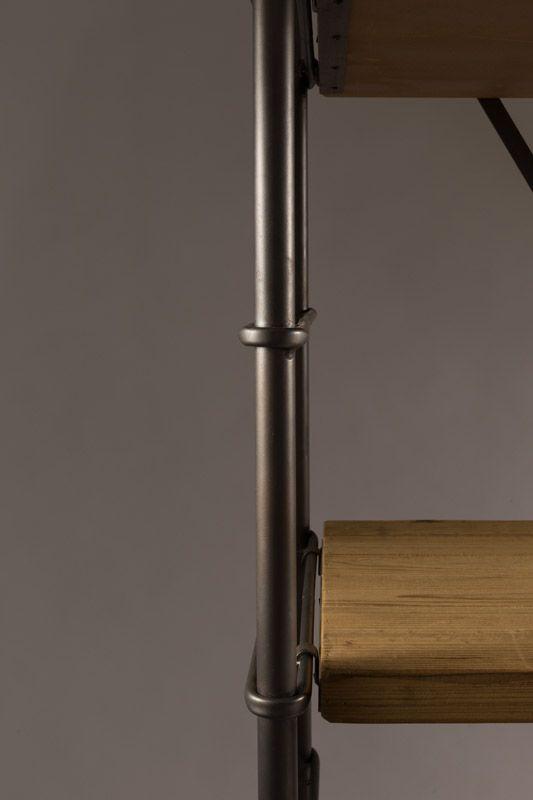 Dutchbone - Iron Reol - Brun - Jernreol med trehyller