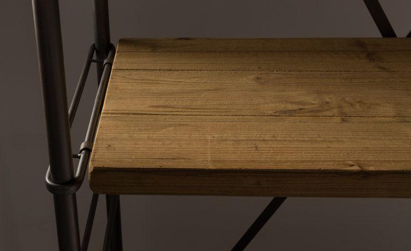 Dutchbone - Iron Reol - Brun - Jernreol med træhylder