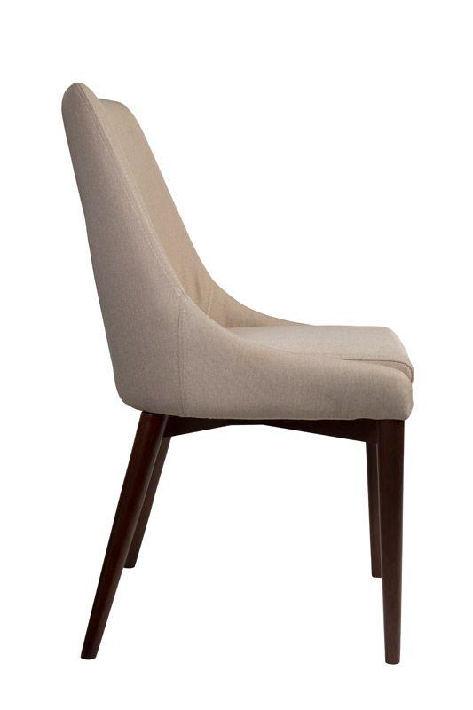 Dutchbone - Juju Spisebordsstol - Khaki - Spisebordsstol i khaki med ben i asketræ
