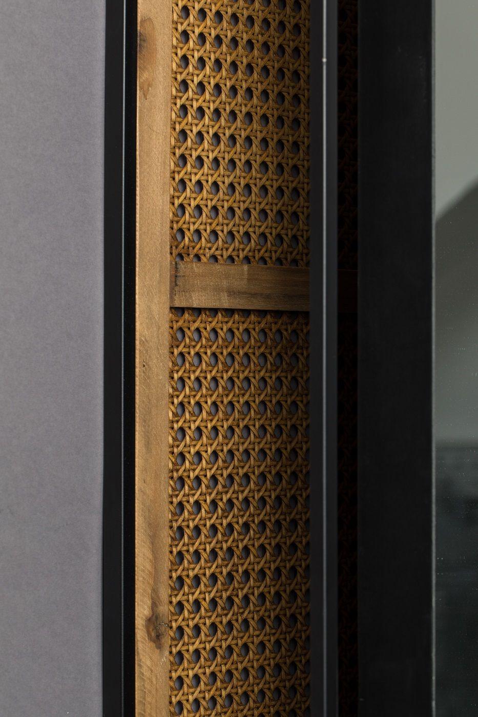 Dutchbone Langres L Spejl - Sort/Natur