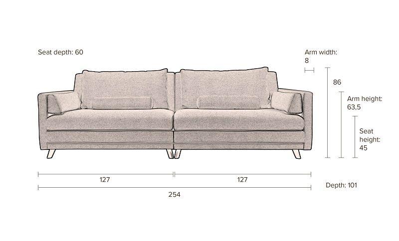 Dutchbone - Linde 3-pers. Sofa - Sand