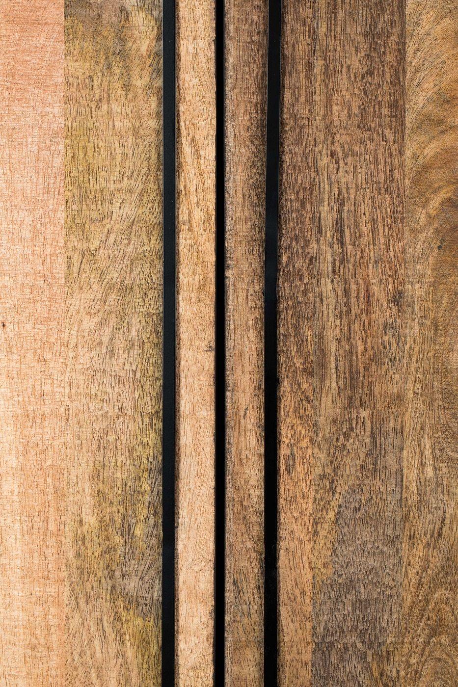 Dutchbone - Nairobi Vitrineskab H160 - Brun/Sort