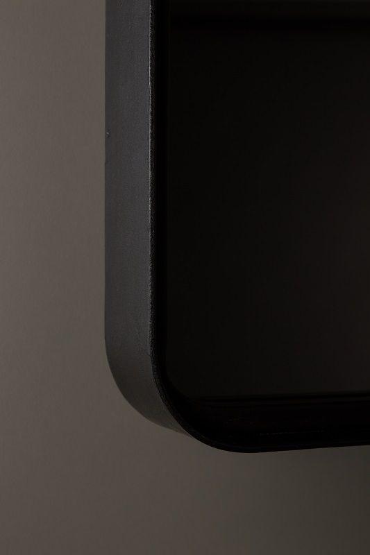 Dutchbone - Poke - L Spejl - Sort - Speil med sort ramme