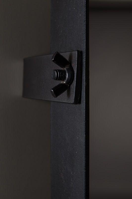 Dutchbone - Poke - M Spejl - Sort - Kvadratisk speil med sort ramme