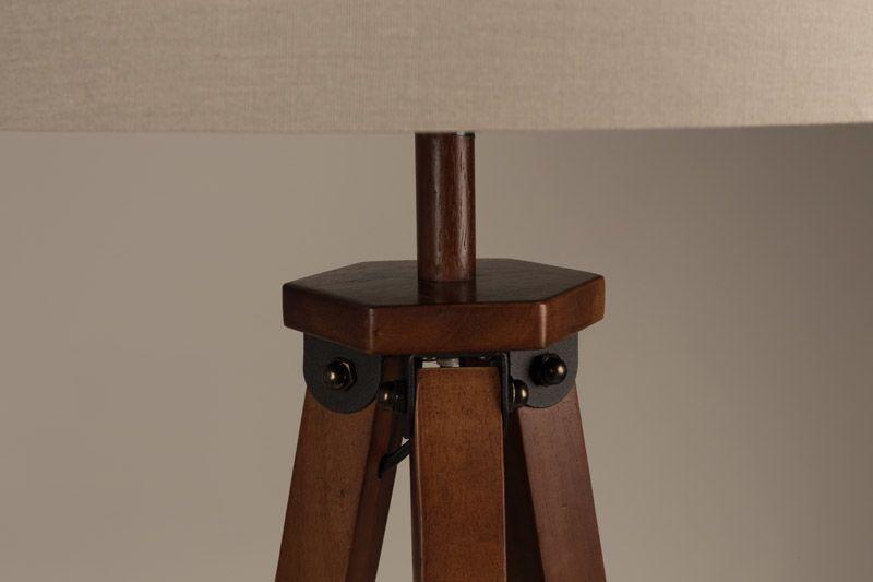 Dutchbone Rif Gulvlampe - Lys bomuldsskræm