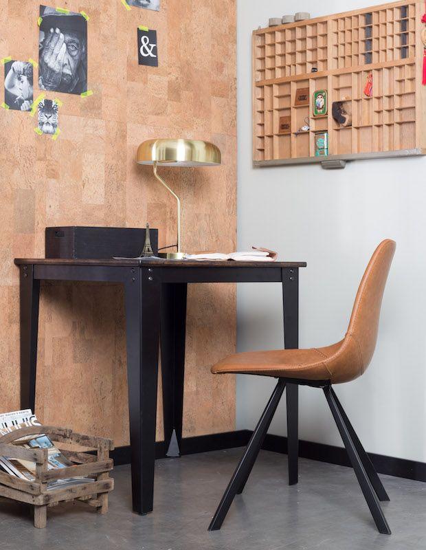 Dutchbone - Scoula Spisebord - Finér - 70x70 - Spisebord med bordplade i birk - 70x70