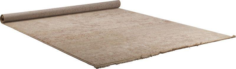 Dutchbone - Shisha Desert Luvtæppe Beige - 200x295 - Sandfarvet tæppe med frynser - 200x295