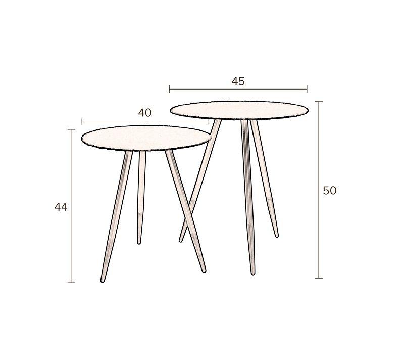 Dutchbone - Stalwart Sidebord - Sæt á 2