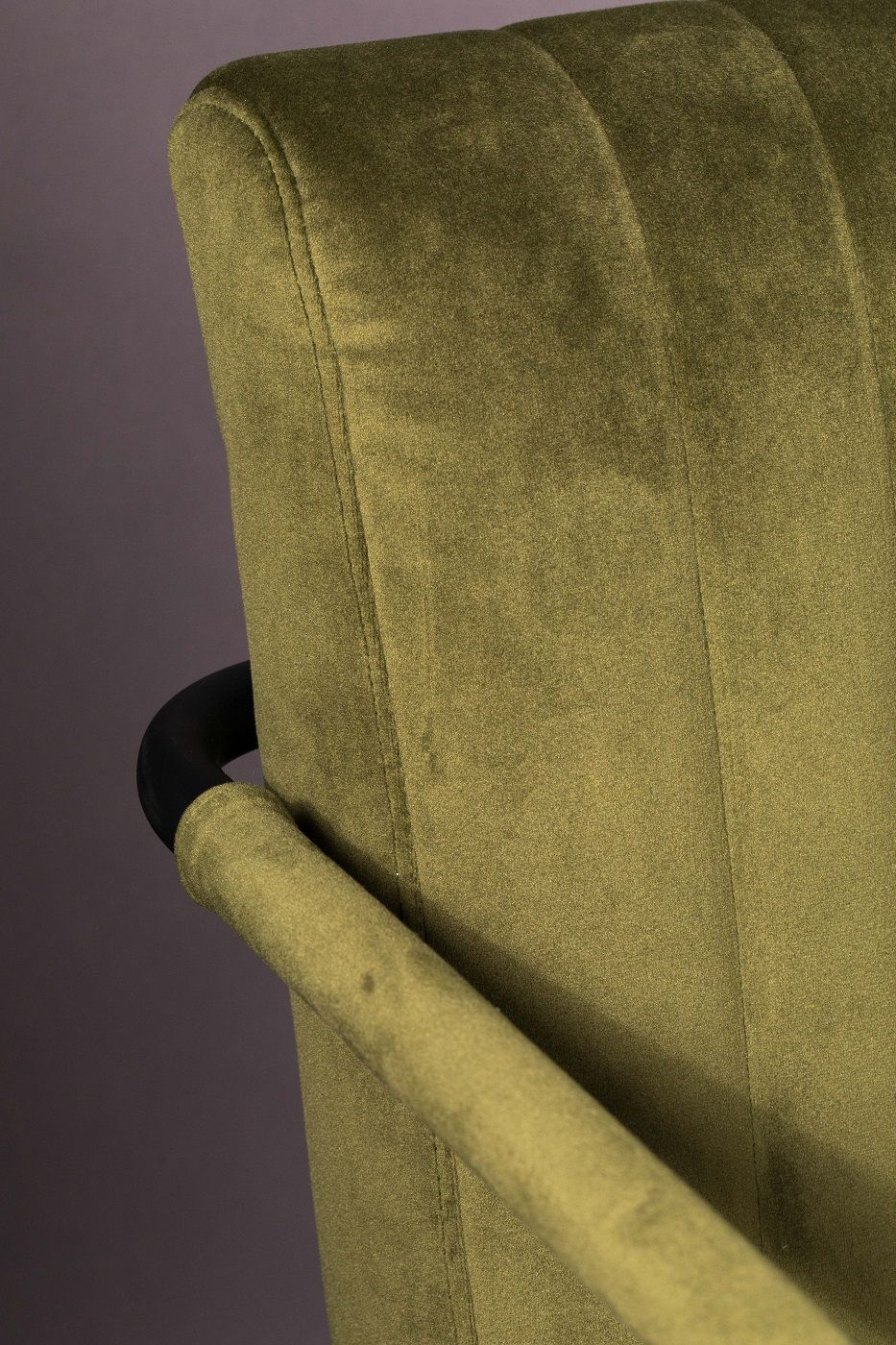 Dutchbone Stitched Spisebordsstol - Oliven