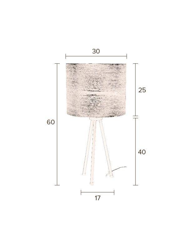 Dutchbone - Woodland Bordlampe - Natur - Skærm af Aske finér