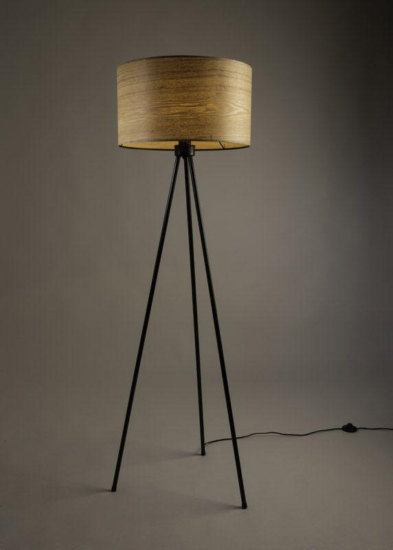 Dutchbone - Woodland Gulvlampe - Natur - Gulvlampe i askefinér