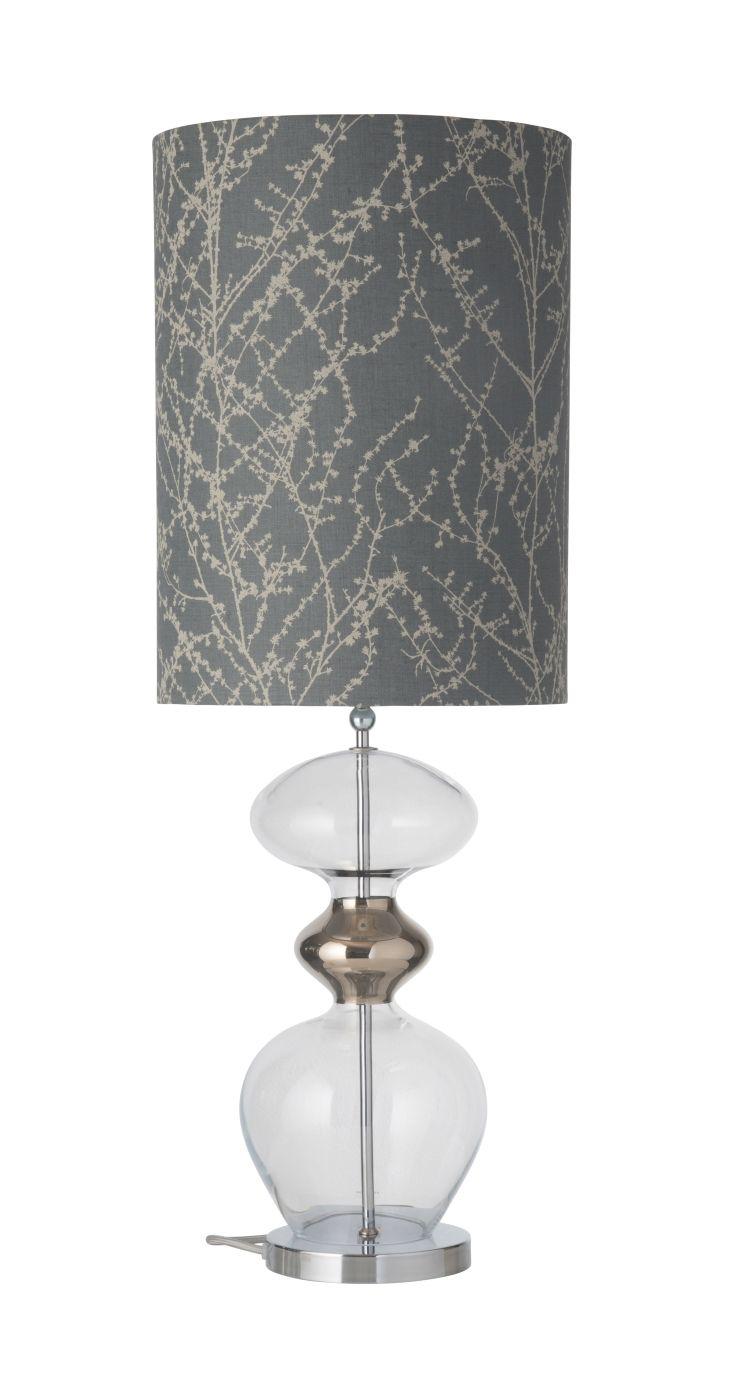 Ebb&Flow - Futura lampefod, Klar/platin, Sølv base