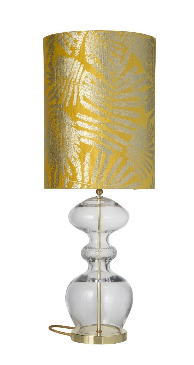 Ebb&Flow - Futura lampefod, Krystal, Guld base