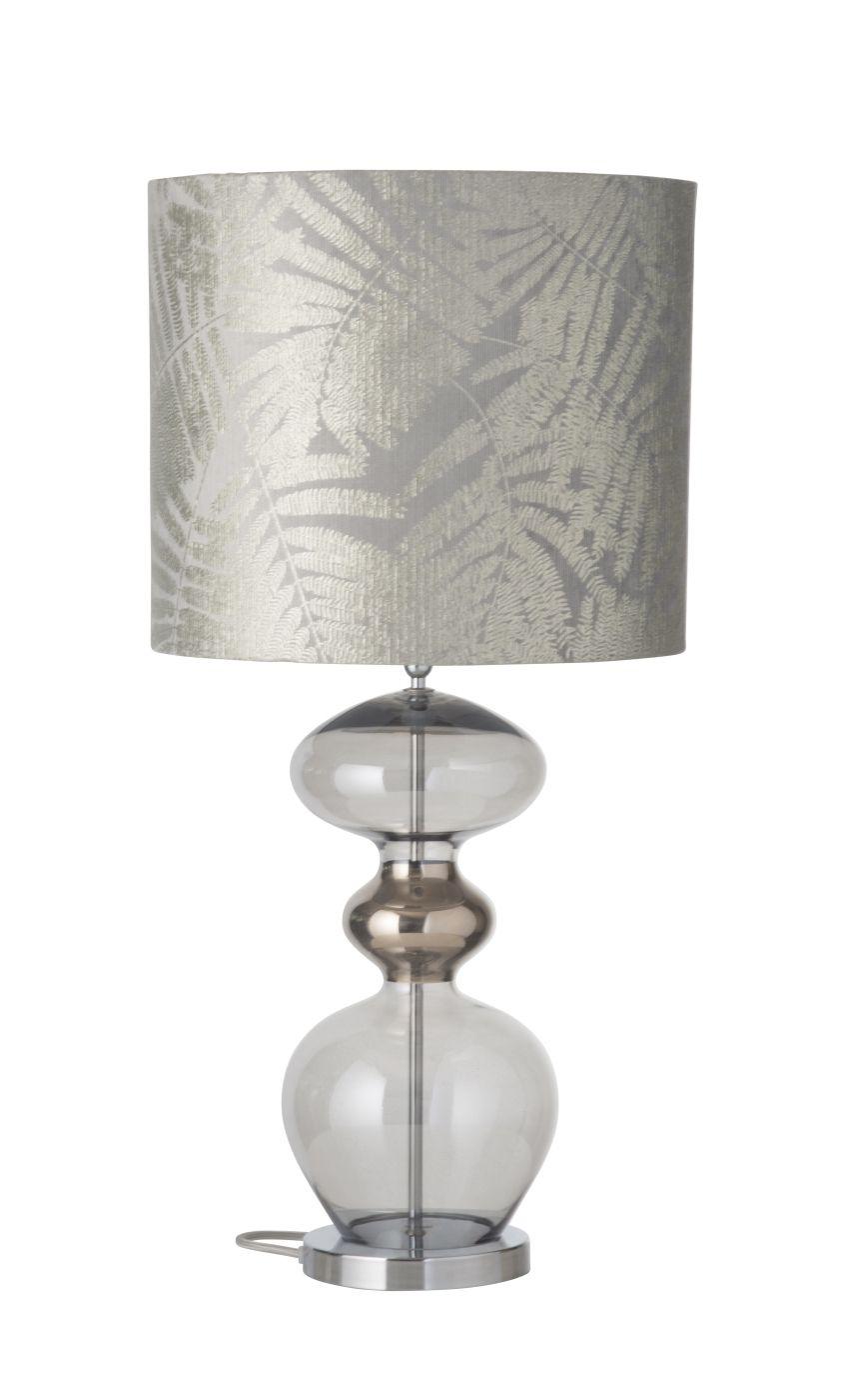 Ebb&Flow - Futura lampefod, smokey grå, Sølv base
