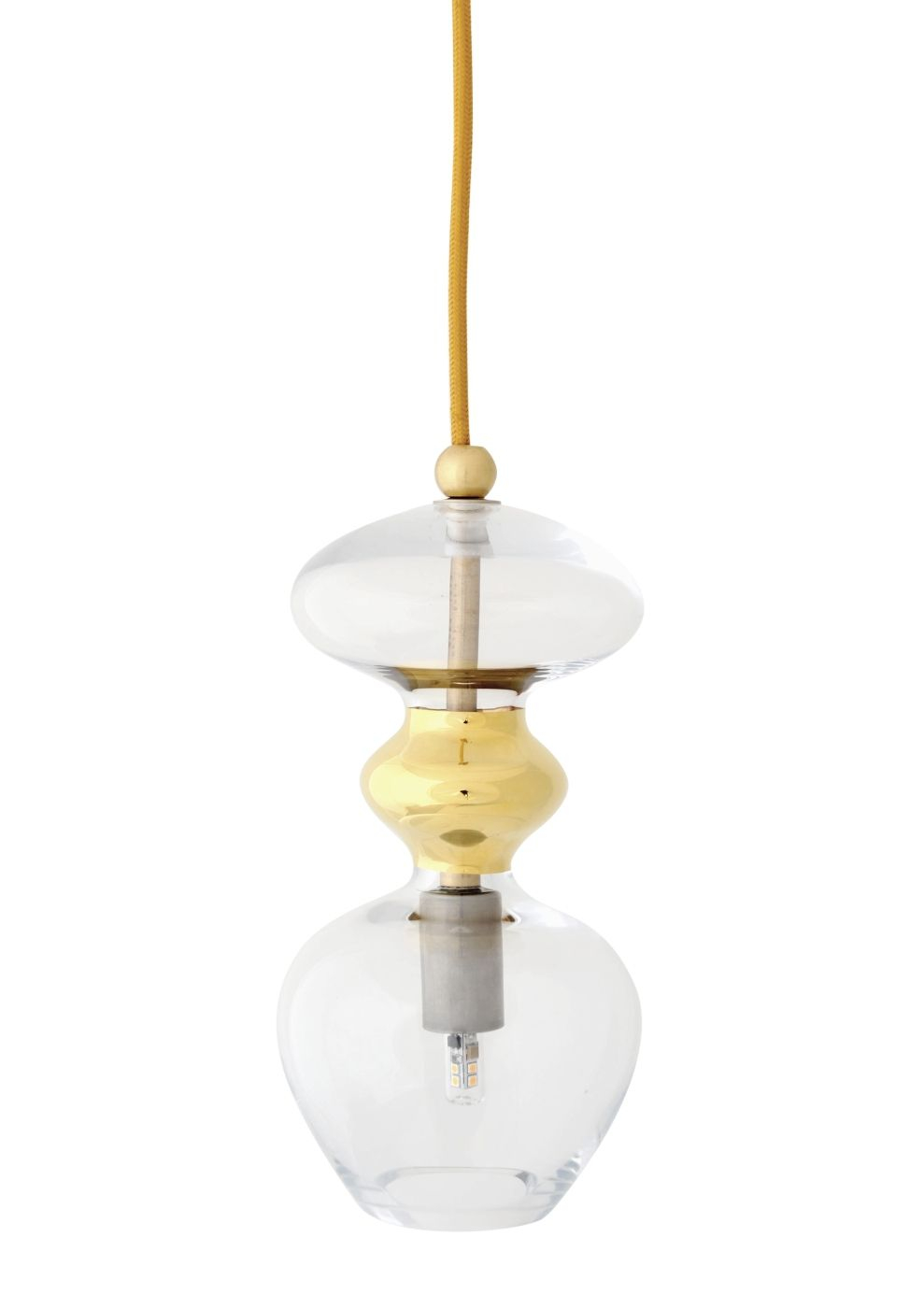 Ebb&Flow - Futura pendel, Klar m. Guld, Ø11